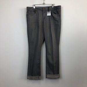 NWT Gap 1969 Gray Real Straight Jeans